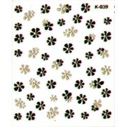 Naklejki na paznokcie  3D DA-02/20