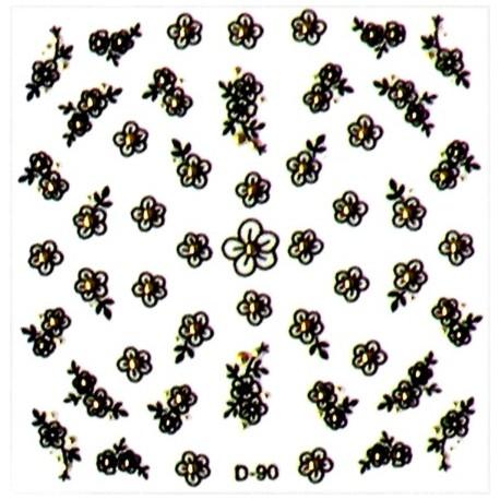Naklejki na paznokcie 3D DA-12/4