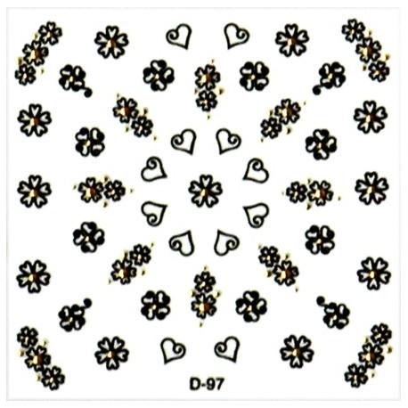 Naklejki na paznokcie 3D DA-12/8