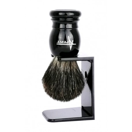 Pędzel do golenia z borsuka na stojaku