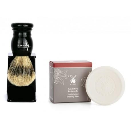 Zestaw do golenia tradycyjnego z pędzlem i mydłem