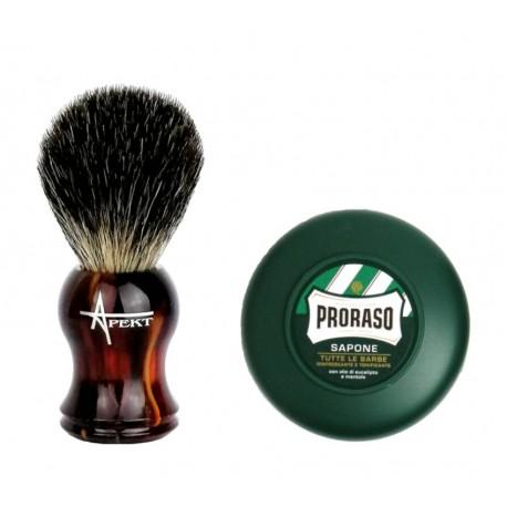 Pędzel do golenia z borsuka (pure badger)+ mydło