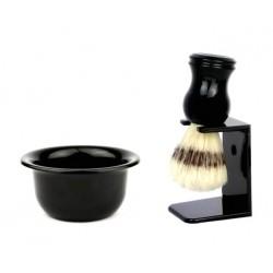 Pędzel do golenia + mydło Muhle w tyglu