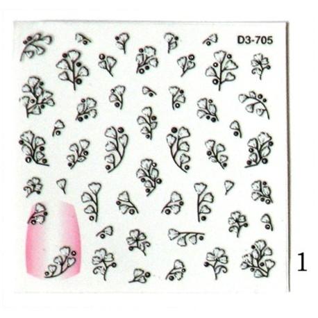 Naklejki na paznokcie  3D DA-23/1s