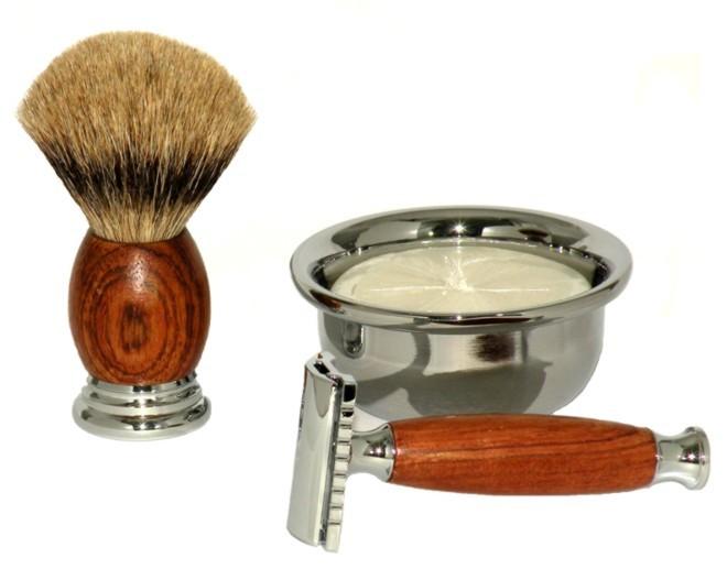 Tradycyjne zestawy do golenia z pędzlem